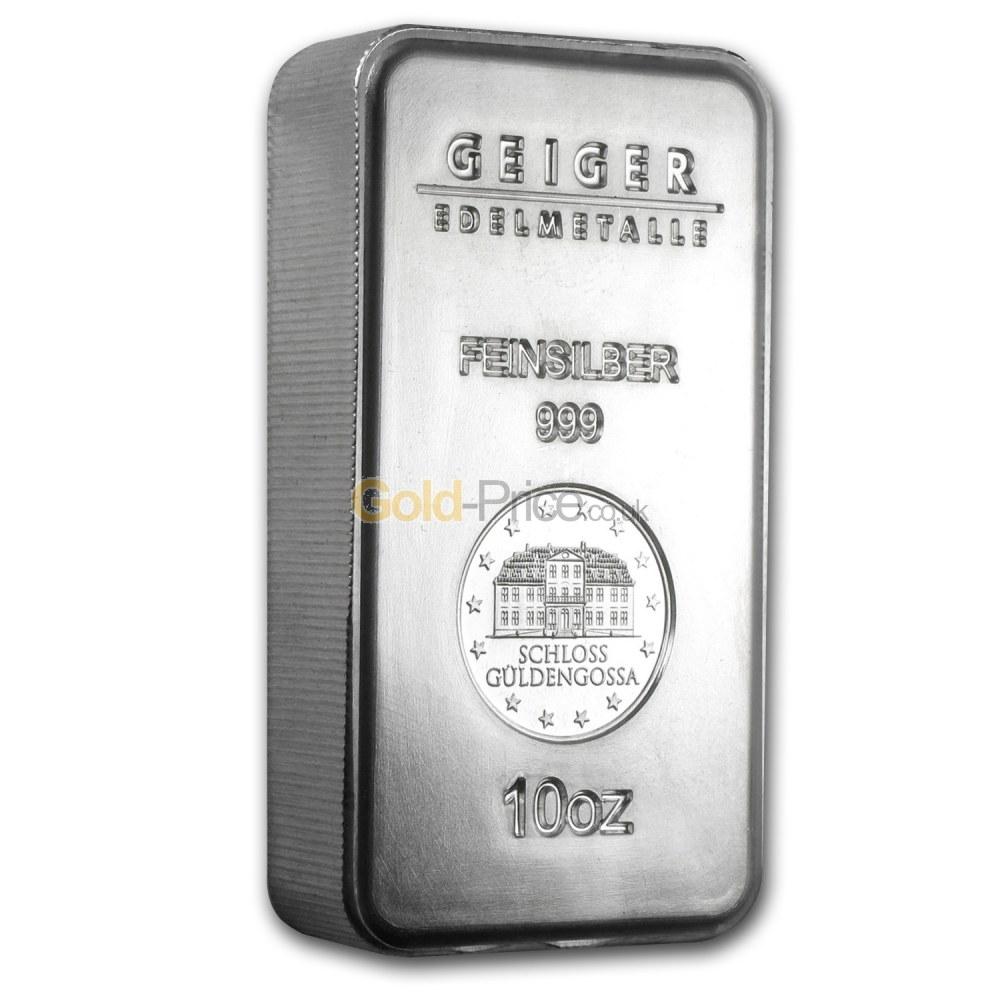 Silver Bar Price Comparison Buy 10 Ounces Silver