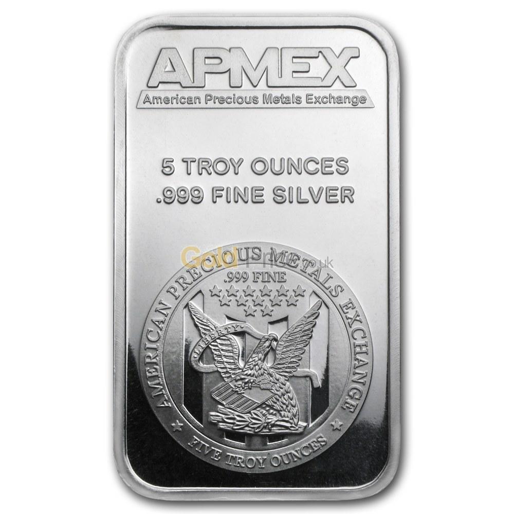 Silver Bar Price Comparison Buy 5 Ounces Silver
