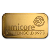 100 grams Gold bar